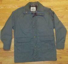 Woolrich Vintage Men's Jacket Wool Lined Parka Size Large Full Zip Gray 5pocket