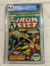IRON FIST 1 CGC 9.2 (1975) Marvel Key Issue White Pages Iron Man