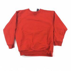 Gap Athletic Crewneck Pullover Sweatshirt Boys Size 10 Blank Red