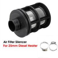 25mm Air Intake Filter Silencer & Clip For Eberspacher Webasto Diesel Heater ~