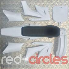 WHITE PIT BIKE PLASTICS & SEAT SET fits APOLLO BULLDOG 140cc - 200cc PITBIKES