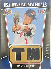 Tony Wolters 2009 Holder Deck USA Baseball Relic /499