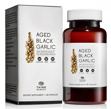 Aged Black Garlic Capsules Garlic Pills for High Blood Pressure and Cholesterol