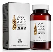 Aged Black Garlic Capsules - Garlic Pills for High Blood Pressure and Cholestero