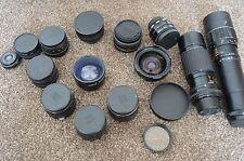 Bundle / Job Lot of Vintage USSR and Japanese Camera Lenses