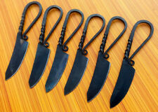 Lot Of 6 Hand Forged Custom Made RailRoad Blank blade Knife AXE-540