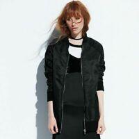 Women's k/lab Oversized Quilted Bomber Jacket, Black, Blue, 80+% OFF MSRP $78.00