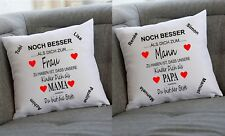 Kissen Geschenk zum Muttertag Vatertag personalisiert mit Namen Kinder/Partner