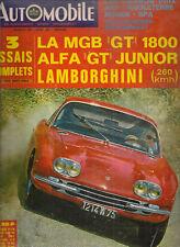 L'AUTOMOBILE 256 1967 LAMBORGHINI 400 GT ALFA GT JUNIOR 1300 GP ACF & ANGLETERRE
