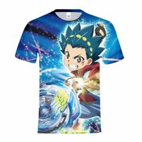 Anime Beyblade Kids T-shirt  Summer Boys Short Sleeve Cool Tee Funny Custom