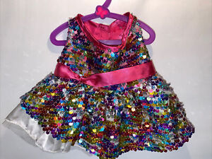 Build A Bear Clothes/Outfit~ Girls Rainbow Sequin Party Dress~p25