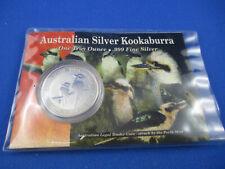 1999 AUSTRALIAN KOOKABURRA $1 1oz SILVER Coin  - In Private DOWNIE'S Pack -