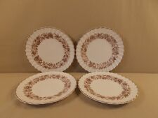 "Royal Doulton ""Mayfair Brown"" 4 Salad Plates"