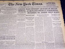 1940 AUGUST 13 NEW YORK TIMES - NAZIS INTENSIFY AIR RAIDS ON BRITAIN - NT 2535
