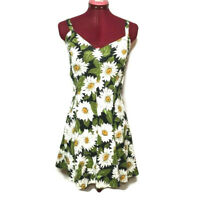AVI Inc Womens Dress S Sunflower Stretch Print USA Made Fit And Flare Full Skirt