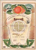 * 1956 * CATANIA  AZIONE DOC ORIGINALE * ESTRAZIONE DERIVATI AGRUMARI