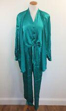 Vtg 90s Chaus Womens Sz 12 Casual Wear 2pc Set Elastic Waist Lagenlook Tie Front