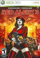 Command & Conquer: Red Alert 3 Xbox 360 Game Disc, Case, & Manual