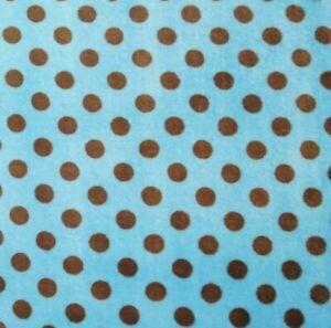 0.5m Turquoise Spot Cuddle Fleece Fabric 147cm wide