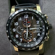 Citizen Eco-Drive Mens Rose Gold Radio Controlled Chronograph Leather Watch $675