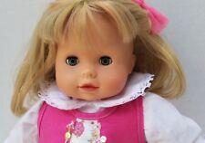 "Gotz German Baby Doll Blue Eyes Blonde Hair Sister Bitty Pre American Girl 15"""