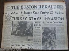March 14, 1964 Boston Herald Newspaper: BEATLES, Jack Ruby, RFK, Playboy Bunnies