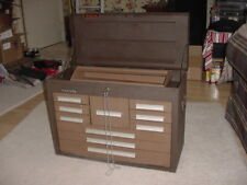 "Kennedy 10 Drawer Steel Tool Chest 26-1/8"" x12-1/8"" x 18-7/8"" Brown, USED, USA"