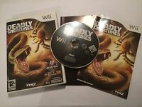 NINTENDO Wii GAME DEADLEY CREATURES +BOX & INSTRUCTIONS COMPLETE PAL