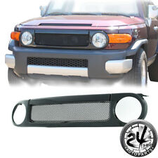 07-14 Toyota FJ Cruiser Full Replacement Grille SS Mesh Front Hood With Shell