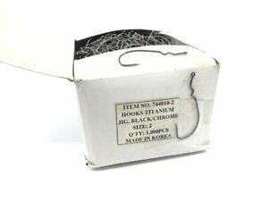 Titanium Hooks Jig Black/Chrome Size 2 Qty 1000 Hooks Ref 744010-2