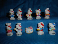 HELLO KITTY Cook CHEF Baker Set 10 Mini Figurines French Porcelain FEVES Figures