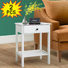 23.6%E2%80%9D+Tall+Set+of+2+Modern+Wood+Nightstand+Bedside+Table+End+Table+W%2F+Drawer