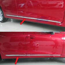 Car Chrome Body Side Door Moulding Trim Overlay cover For 2014 2015 Mazda 3