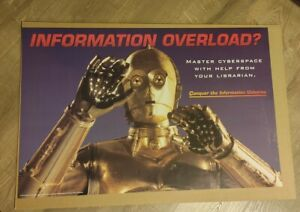 American Library Association =C-3PO OVERLOAD?= 1997 Advertising Poster STAR WARS