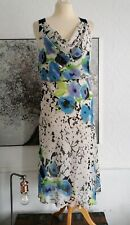 Jonathan Martin Green/Blue Multi Chiffon Midi Floaty Lined  Dress Size 16