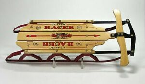 Miniature Sled Flexible Flyer Classic Racer Wood & Metal Roadmaster