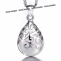 CHRISTMAS PRESENT Silver Opal Moonstone Necklaces Gifts For Her Sister Daughter
