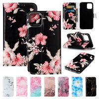 For iPhone 11 Pro/Pro Max Fashion Pattern Leather Card Wallet Stand Case Cover
