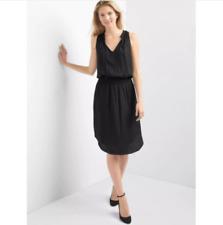 Gap Women's Black Smocked Sleeveless Keyhole Dress Size S