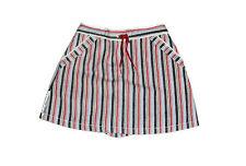 Gymboree Whale Watching Girls Red White & Blue Striped Skort/Skirt 4