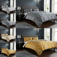 Duvet Cover Set Single Double Super King Pillowcases Luxury Printed Polycotton