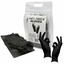 Black Nitrile Disposable Gloves | 50pk Bag +Travel Pouch Included | FAST SHIP