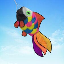 Rainbow Fish Kite Tail Windsock Wind Spinner Garden Decor Laundry Kids Toys