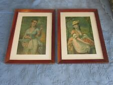 Pair of Antique Victorian Picture Frames,H. Hallett & Co Spring & Autumn Prints