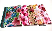 100 MIX 5 FLOWERS DESIGNER 10X13 MAILER POLY MAILING BAGS Des: 1,3,7,18,30
