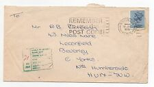 1975 GB Postage Due Cover STEVENAGE To BEVERLEY Slogan SGX865