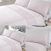 Pom Pom Duvet Cover Set Luxury Cotton Bedding Sheets King Pink