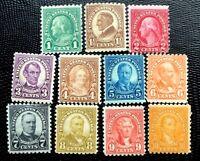 US Stamp SC#581-591 Regular Issue Perf. 10 Nice Mint H/OG Complete Set CV:$200
