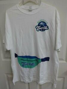2018 Asheville Tourists Minor League Baseball Pullover T-Shirt Men XL SGA