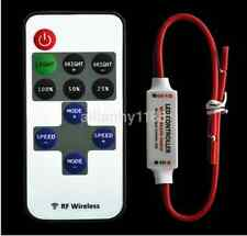 12V Mini Controller Dimmer with RF Wireless Remote for LED Strip Light UK